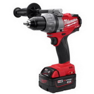 Milwaukee Electric Tools 2603-22 Milwaukee Tools 2603-22 M18 Fuel™ Drill/Driver Kit; 18 Volt, 7.9 Inch Length x 1/2 Inch Chuck, 725 Inch-lb Torque, Redlithium™ XC4.0 Battery