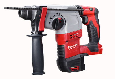 Milwaukee Electric Tools 2605-20 Milwaukee Tools 2605-20 M12™ Cordless SDS-Plus Rotary Hammer; 18 Volt, 11.75 Inch Length x 7/8 Inch Chuck, Lithium-Ion Battery