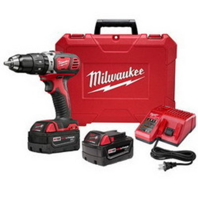 Milwaukee Electric Tools 2607-22 Milwaukee Tools 2607-22 M12™ Compact Hammer Drill/Driver Kit; 18 Volt, 7.75 Inch Length x 1/2 Inch Chuck, 525 Inch-lb Torque