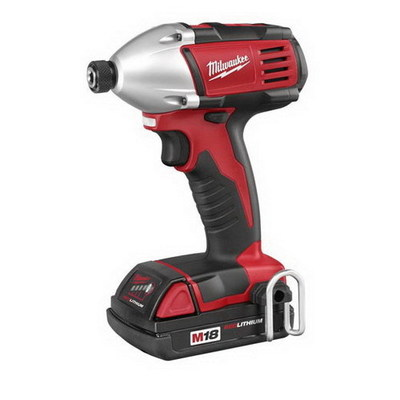 Milwaukee Electric Tools 2650-21 Milwaukee Tools 2650-21 M18™ Compact Impact Hex Driver; 18 Volt, 5.75 Inch Length x 1/4 Inch Drive, 1400 Inch-lb Torque