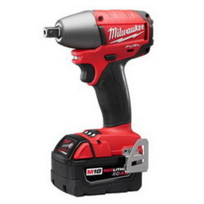 Milwaukee Electric Tools 2655-22 Milwaukee Tools 2655-22 M18 Fuel™ Impact Wrench Kit With Pin Detent; 18 Volt, 6 Inch Length x 1/2 Inch Drive, 210 ft-lb Torque