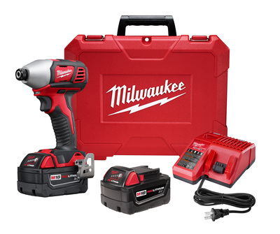 Milwaukee Electric Tools 2657-22 Milwaukee Tools 2657-22 M18™ 2-Speed Impact Driver Kit; 18 Volt, M18™ Red Lithium™ Battery, 1500 Inch-lb