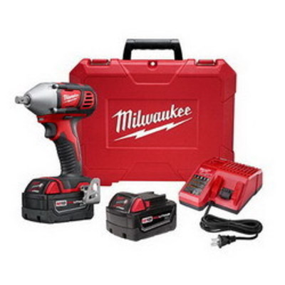 Milwaukee Electric Tools 2659-22 Milwaukee Tools 2659-22 M18™ Impact Wrench Kit With Pin Detent; 18 Volt, 6 Inch Length x 1/2 Inch Drive, 183 ft-lb Torque