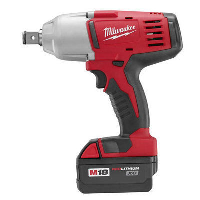 Milwaukee Electric Tools 2664-22 Milwaukee Tools 2664-22 M18™ High-Torque Impact Wrench With Friction Ring Kit; 18 Volt, 9 Inch Length x 3/4 Inch Drive, 525 ft-lb Torque