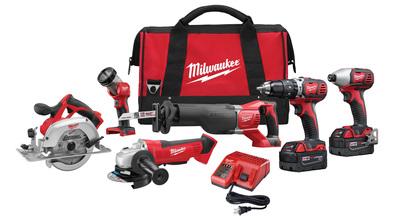 Milwaukee Electric Tools 2696-26 Milwaukee Tools 2696-26 M18™ 6 Piece Cordless Tool Combo Kit; 18 Volt