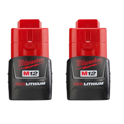 Milwaukee Electric Tools 48-11-2411 Milwaukee Tools 48-11-2411 M12 Red Lithium™ Compact Battery; 12 Volt, NiCd