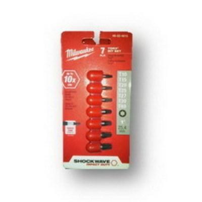 Milwaukee Electric Tools 48-32-4615 Milwaukee Tools 48-32-4615 Shockwave™ Torx Insert Bit Set; 1 Inch Overall Length, 7-Piece