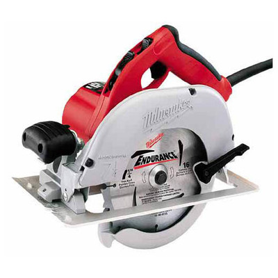 Milwaukee Electric Tools 6391-21 Milwaukee Tools 6391-21 Left Blade Circular Saw; 120 Volt AC/DC, 13-3/4 Inch Overall Length, 5/8 Inch, 7-1/4 Inch, 5800 RPM, Left Blade Circular Saw with Case, Blade Wrench, Circular Saw Blade