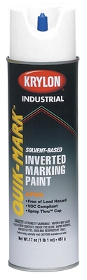 Minerallac 37469 Cully 37469 Heavy-Duty Inverted Marking Paint; 20 oz, Aerosol, Utility White