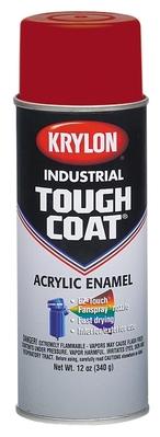 Minerallac 37479 Cully 37479 Krylon® Industrial Tough Coat® Acrylic Enamel Paint; 12 oz, Aerosol Can, OSHA Red