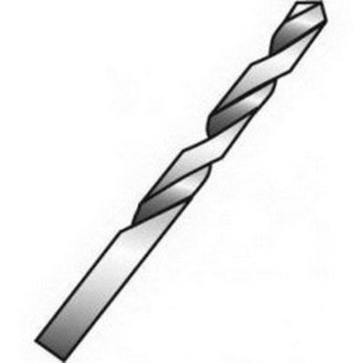 Minerallac 91613 Cully 91613 Minerallac® HSS Standard Point Jobber Length Drill Bit; 1/4 Inch, Polished, 12/Bag