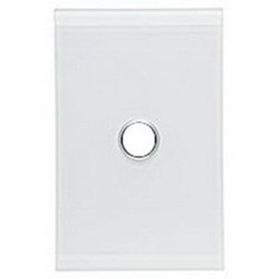 Mulberry 86581 Mulberry 86581 Standard Size 1-Gang Wallplate; 3.281 Inch Box Mount, Painted Steel, White