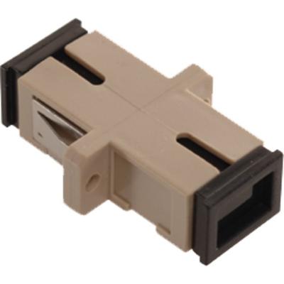 Multilink 10-5382 Multilink 10-5382MULTILK Multi-Mode Fiber Optic Adapter; SC Simplex, Beige