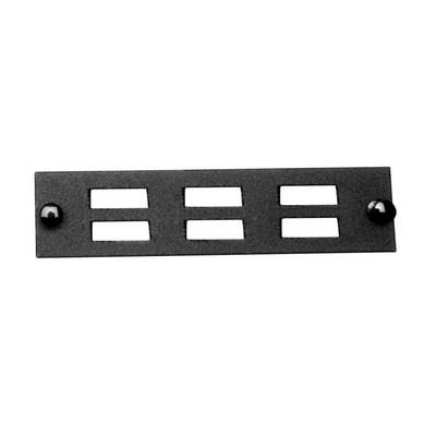 Multilink 10-5534 Multi-Link 10-5534 SC Blank Adapter Panel; 6 Duplex Fibers, Black
