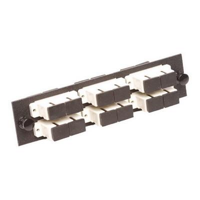 Multilink 10-5535 Multi-Link 10-5535 SC/PC Loaded Fiber Adapter Panel; Multimode, 6 Duplex Fibers, Beige/Black, 6/Pack