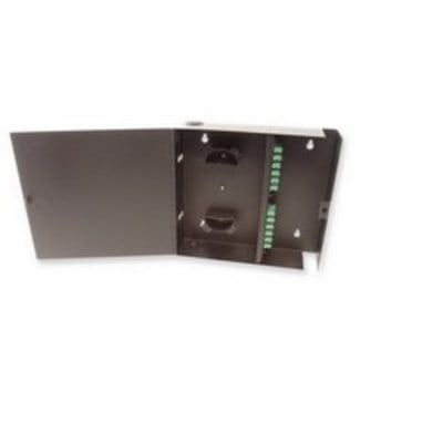 Multilink 10-7945 Multi-Link 10-7945 Standard Single Outer Door Fiber Distribution Unit; Wall Mount, Black