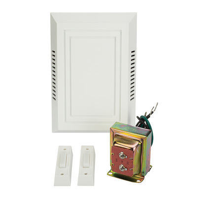 NSI TAC212WL NSI TAC212WL Chime Kit; 4-3/4 Inch Width x 2-1/2 Inch Depth x 7-1/4 Inch Length, Screw Mount, Thermoplastic, White