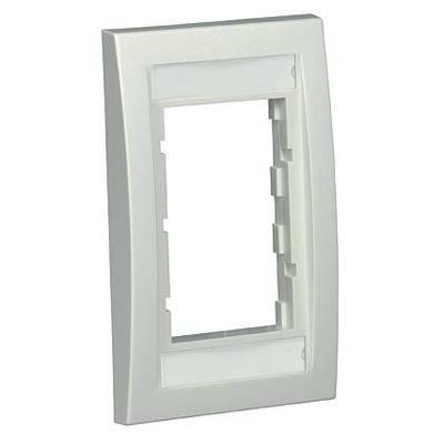 Panduit CBEEIY Panduit CBEEIY Mini-Com® 1-Gang Executive Faceplate Frame; Screw, Plastic, Electric Ivory