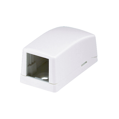 Panduit CBX1EI-A Panduit CBX1EI-A Mini-Com® Low Profile Surface Mount Box; ABS, Electric Ivory, (1) Port