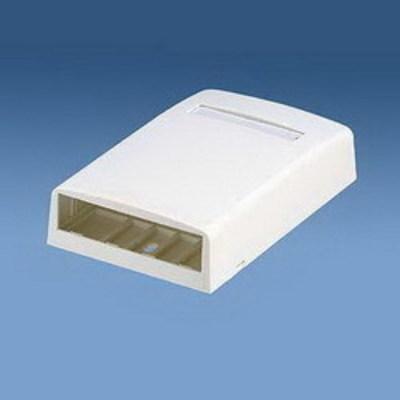 Panduit CBX4IG-AY Panduit CBX4IG-AY Mini-Com® Low Profile Surface Mount Box; ABS, Gray, (4) Port