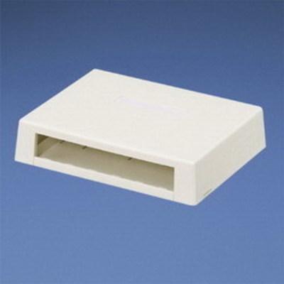 Panduit CBXD6IG-AY Panduit CBXD6IG-AY Mini-Com® Low Profile Surface Mount Box; ABS, International Gray, (6) Port