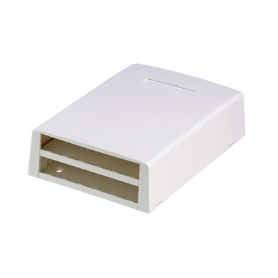 Panduit CBXF12BL-AY Panduit CBXF12BL-AY Mini-Com® Surface Mount Box; Screw Mount, ABS, Black, (12) Port