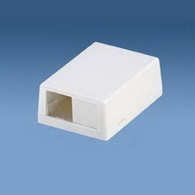 Panduit CBXJ2EI-A Panduit CBXJ2EI-A Mini-Com® Low Profile Surface Mount Box; ABS, Electric Ivory, (2) Port
