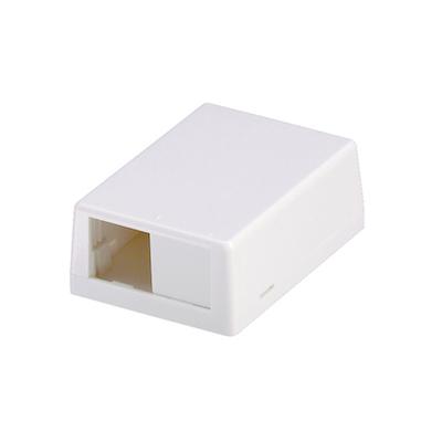 Panduit CBXJ2WH-A Panduit CBXJ2WH-A Mini-Com® Low Profile Surface Mount Box; ABS, White, (2) Port