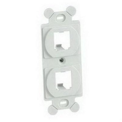 Panduit CF1062IWY Panduit CF1062IWY Mini-Com® Module Frame; Screw, (2) UTP, STP, Fiber-Optic, A/V Port, Plastic, Off White