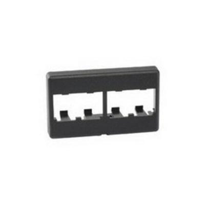 Panduit CFFP4BL Panduit CFFP4BL Mini-Com® Flat Faceplate; Screw, (4) UTP, STP, Fiber-Optic, A/V Port, Acrylonitrile Butadiene Styrene (ABS), Black