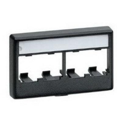 Panduit CFFPL4BL Panduit CFFPL4BL Mini-Com® Flat Faceplate; (4) Port, ABS, Black