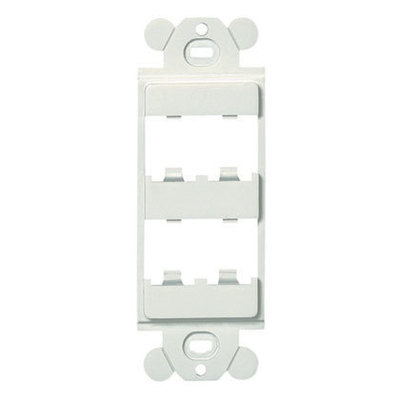 Panduit CFG4IW Panduit CFG4IW Mini-Com® GFCI Module Frame; Plastic, Off-White, (4) Port