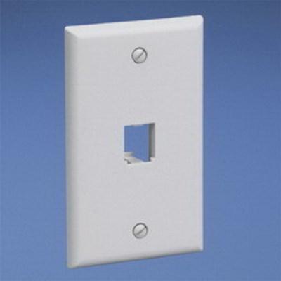 Panduit CFP1EI Panduit CFP1EI Mini-Com® 1-Gang Flat Faceplate; (1) UTP, STP, Fiber-Optic, A/V Port, ABS, Electric Ivory