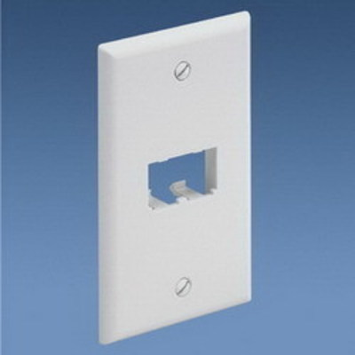 Panduit CFP2EI Panduit CFP2EI Mini-Com® 1-Gang Flat Faceplate; (2) UTP, STP, Fiber-Optic, A/V Port, ABS, Electric Ivory