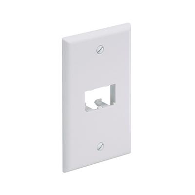 Panduit CFP2WH Panduit CFP2WH Mini-Com® 1-Gang Flat Faceplate; Screw, (2) UTP, STP, Fiber-Optic, A/V Port, ABS, White