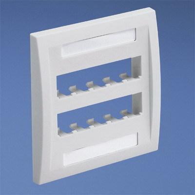 Panduit CFPE10WH-2G Panduit CFPE10WH-2G Mini-Com® 2-Gang Flat Faceplate; Screw, (10) UTP, STP, Fiber-Optic, A/V Port, ABS, White