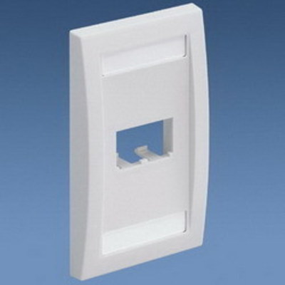 Panduit CFPE1WHY Panduit CFPE1WHY Mini-Com® 1-Gang Flat Faceplate; (2) UTP, STP, Fiber-Optic, A/V Port, ABS, White