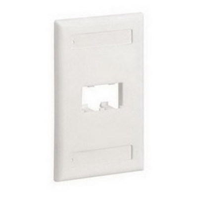 Panduit CFPL2WH Panduit CFPL2WH Mini-Com® 1-Gang Flat Faceplate; Screw, (2) UTP, STP, Fiber-Optic, A/V Port, ABS, White