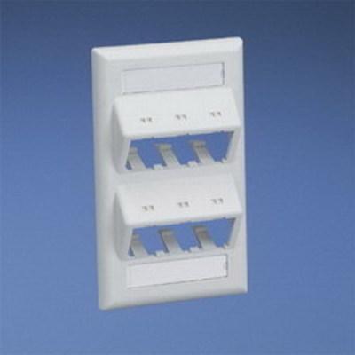 Panduit CFPSL6WHY Panduit CFPSL6WHY Mini-Com® 1-Gang Sloped Faceplate; Screw, (6) UTP, STP, Fiber-Optic, A/V Port, ABS, White