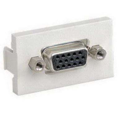 Panduit CHD15HDCBLY Panduit CHD15HDCBLY Mini-Com® Pass-Through 1/3 Insert With Coupler; 15-Pin, Black