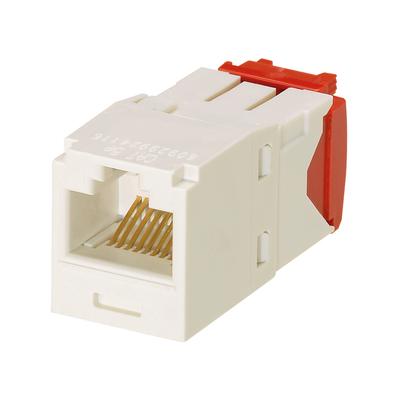 Panduit CJ5E88TGIW-24 Panduit CJ5E88TGIW-24 Mini-Com® TX5e™ Category 5e/Class D Jack Module; 8P8C, Off White