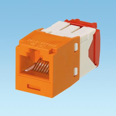 Panduit CJ5E88TGOR-24 Panduit CJ5E88TGOR-24 Mini-Com® TX5e™ Category 5e/Class D Jack Module; 8P8C, Orange