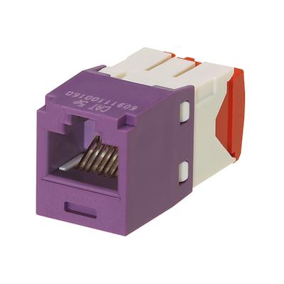 Panduit CJ5E88TGVL Panduit CJ5E88TGVL Mini-Com® TX5e™ Category 5e/Class D Jack Module; 8P8C, Violet