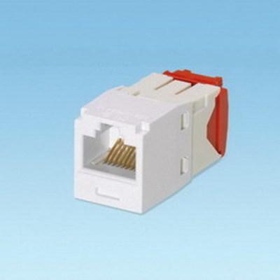 Panduit CJ5E88TGWH-24 Panduit CJ5E88TGWH-24 Mini-Com® TX5e™ Category 5e/Class D Jack Module; 8P8C, White