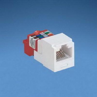 Panduit CJ5E88TIW Panduit CJ5E88TIW Mini-Com® TX5e™ Category 5e/Class D Jack Module; 8P8C, Off White