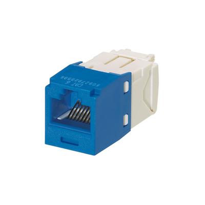Panduit CJ688TGBU-24 Panduit CJ688TGBU-24 Mini-Com® TX6™ Category 6 RJ45 Jack Module; 8P8C, Blue