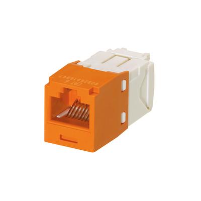 Panduit CJ688TGOR-24 Panduit CJ688TGOR-24 Mini-Com® TX6™ Category 6 RJ45 Jack Module; 8P8C, Orange
