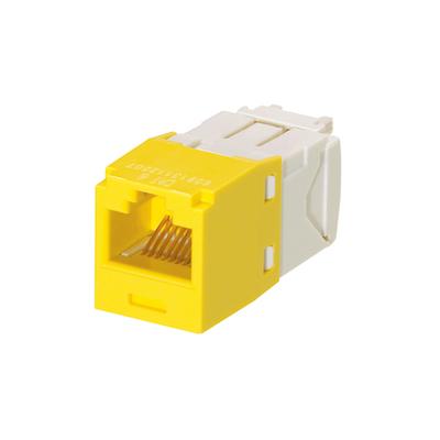 Panduit CJ688TGYL-24 Panduit CJ688TGYL-24 Mini-Com® TX6™ Category 6 RJ45 Jack Module; 8P8C, Yellow