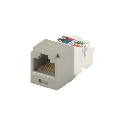 Panduit CJ688TPIG Panduit CJ688TPIG Mini-Com® TX6™ Category 6 RJ45 Jack Module; 8P8C, International Gray