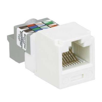 Panduit CJ688TPIW Panduit CJ688TPIW Mini-Com® TX6™ Category 6 RJ45 Jack Module; 8P8C, Off White